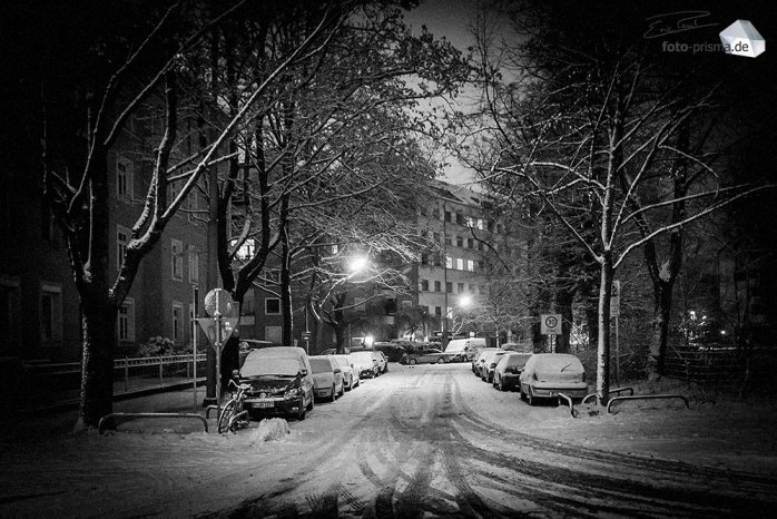 Silent Empty Winter Night - Leere Straßen in München (Foto: Eric Paul)
